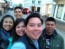 The crew on the streets of Reykjavik