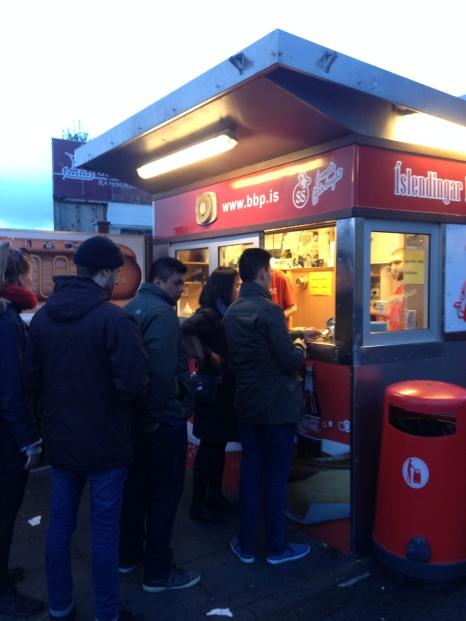 Icelandic hotdogs! Yum!