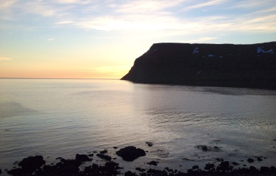 Sunset at Isafjodur, Westfjords