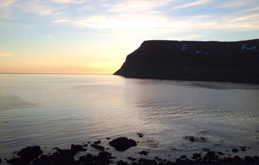 Sunset at Isafjodur, Westfjords