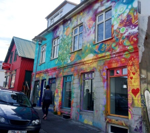 Colorful house in Reykjavik