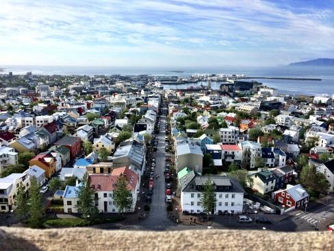 View from top of Hallgrimskirkja Church